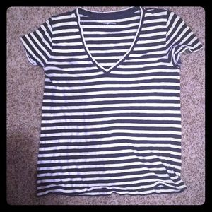 ✖️JCREW Vintage Cotton Striped V Neck Top